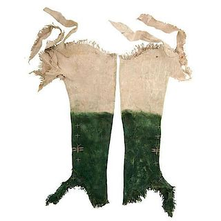 Southern Plains Beaded Hide Leggings From the US Children's Museum on the 19th Century