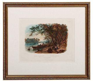 Karl Bodmer (Swiss, 1809-1893) Etching and Aquatint
