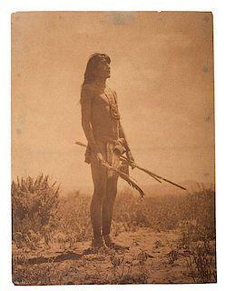 Edward Curtis (American, 1868-1952) Platinum Photograph <i>Hopi Snake Priest</i>