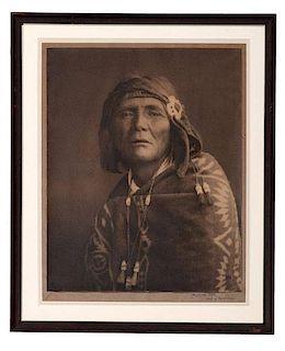Karl Moon (American, 1879-1948) Silver Gelatin Photograph, Al-Che-Say, Chief of Apaches