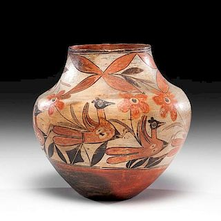 Reyes Galvan Aguilar (Zia, ca 1860 - 1934) Attributed Polychrome Pottery Jar