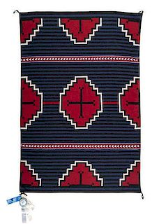 Evelyn Curley (Dine [Navajo], 1929-2004) Award Winning Moki Revival Weaving / Rug