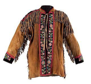 Metis Beaded Moose Hide Coat