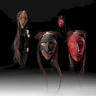 Haudenosaunee [Iroquois] Carved Maskettes