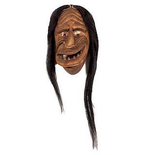 Haudenosaunee [Iroquois] Cayuga Old Broken Nose Mask