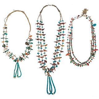 Pueblo Fetish and Heishi Necklaces from Asa Glascock Trading Post, Gallup, NM