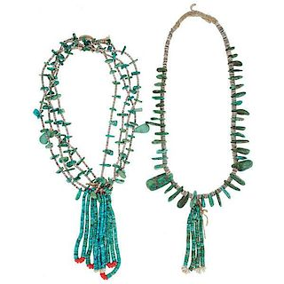 Navajo Turquoise and Heishi Necklaces From Asa Glascock Trading Post, Gallup, New Mexico