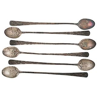 Navajo Silver Parfait or Iced Tea Spoons