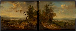 A PAIR OF RHENISH LANDSCAPES BY CHRISTIAN GEORG SCHUTZ I (GERMAN 1718-1791)