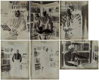 A GROUP OF SIX NEGATIVE PLATES DEPICTING MIKHAIL MIKHAILOVICH TARKHANOV (RUSSIAN 1888-1962)