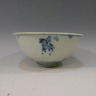 CHINESE ANTIQUE BLUE WHITE BOWL - MING CHENGHUA PERIOD