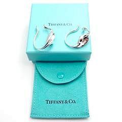 Rare! Tiffany & Co Sterling Silver Elsa Peretti Calla Lily Hoop Cuff Earrings