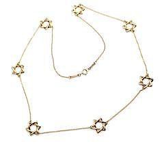 Tiffany & Co. Elsa Peretti 18k Yellow Gold Star Of David Necklace