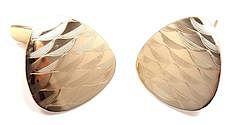 VINTAGE TIFFANY & CO 14K YELLOW GOLD LARGE CUFFLINKS