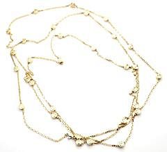"""Cartier 18k Yellow Gold Love Screws Station 48"""" Long Chain Necklace"""