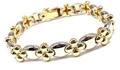 Van Cleef & Arpels 18k Yellow And White Gold Link Bracelet