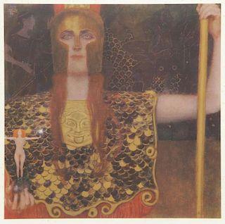 "KLIMT, Gustav (After). Collotype. ""Pallas Athena"""