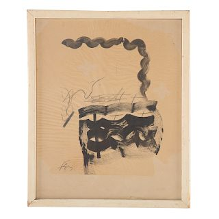 Antoni Tapies. Abstract Composition, mixed media