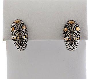 John Hardy Naga Shrimp 18K Gold Sterling Earrings