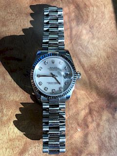 18K Rolex Oyster Perpetual Datejust Watch
