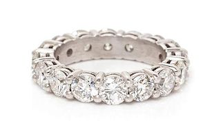 A Platinum and Diamond Eternity Band, 5.90 dwts.