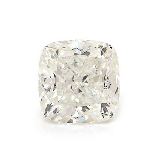 A 3.02 Carat Cushion Shape Diamond,