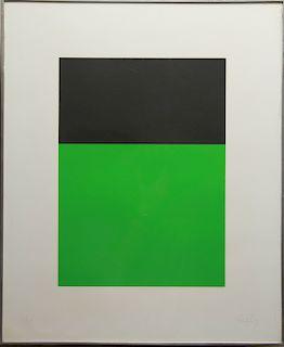 "Ellsworth Kelly ""Black/Green"" Color Lithograph"