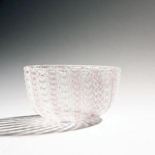 Paolo Venini, 'Zanfirico' bowl, c. 1950