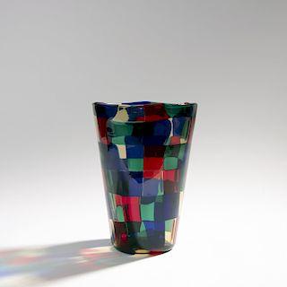 Fulvio Bianconi, 'Pezzato' vase, 2002