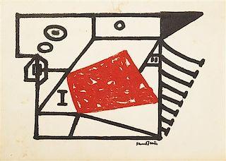 Stuart Davis, (American, 1892-1964), Untitled, 1945 (invitation to exhibition at the MoMA)