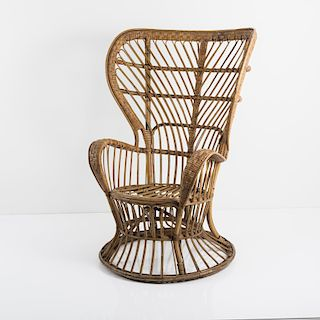 Gio Ponti, Wicker chair, c. 1950