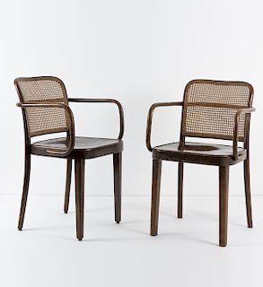 Josef Hoffmann, Two armchairs, c. 1930