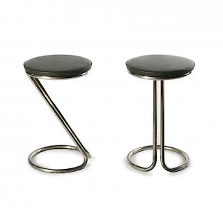 Gilbert Rohde, Two 'Z' bar stools, c1920/30s