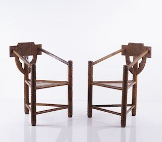 Sweden, Two 'Munk' armchairs, 1930/40s