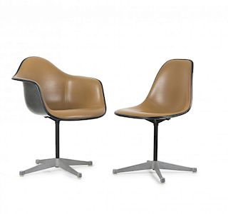 C. Eames, R. Eames , Armchair and Side Chair