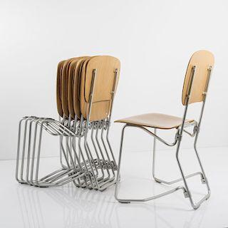 Armin Wirth, Twelve 'Aluflex' folding chairs, 1951