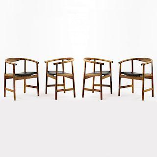 Hans J. Wegner, Four armchairs 'PP 203', 1969