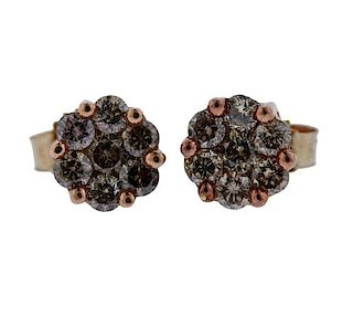 10K Gold Diamond Stud Earrings