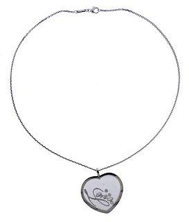 Chopard Love 18k Gold Diamond Heart Pendant Necklace