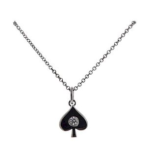 Hearts on Fire 18k Gold Diamond Spade Pendant Necklace