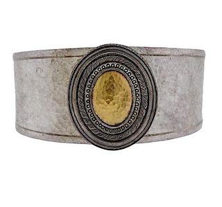 Gurhan Cavalier Sterling 24k Gold Bracelet