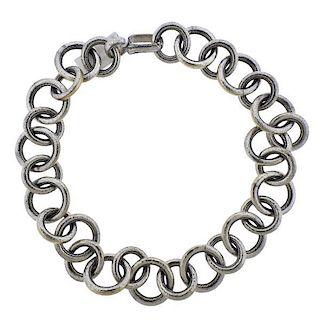 Gurhan Galahad 24K Gold Silver Link Chain Necklace