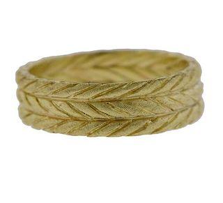 Buccellati 18k Yellow Gold Wedding Band Ring