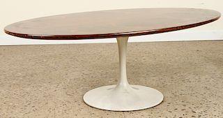 KNOLL ROSEWOOD COFFEE TABLE TULIP BASE 1970