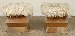PATAGONIA GOAT COVERED BENCHES PARCHMENT BASES