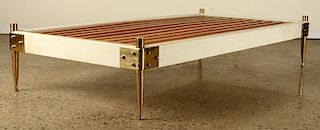 ITALIAN MID CENTURY MODERN PARCHMENT DAY BED 1960