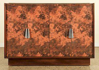 4 DOOR DONALD DESKE CABINET ANGULAR PULLS