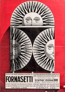 Piero Fornasetti, Poster, 1963