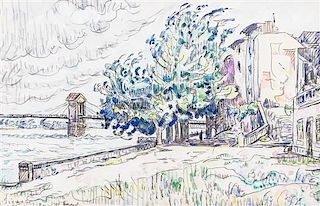 Paul Signac, (French, 1863-1935), Bourg Saint-Andeol