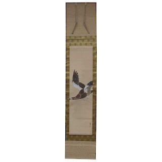Flying Hawk Scroll